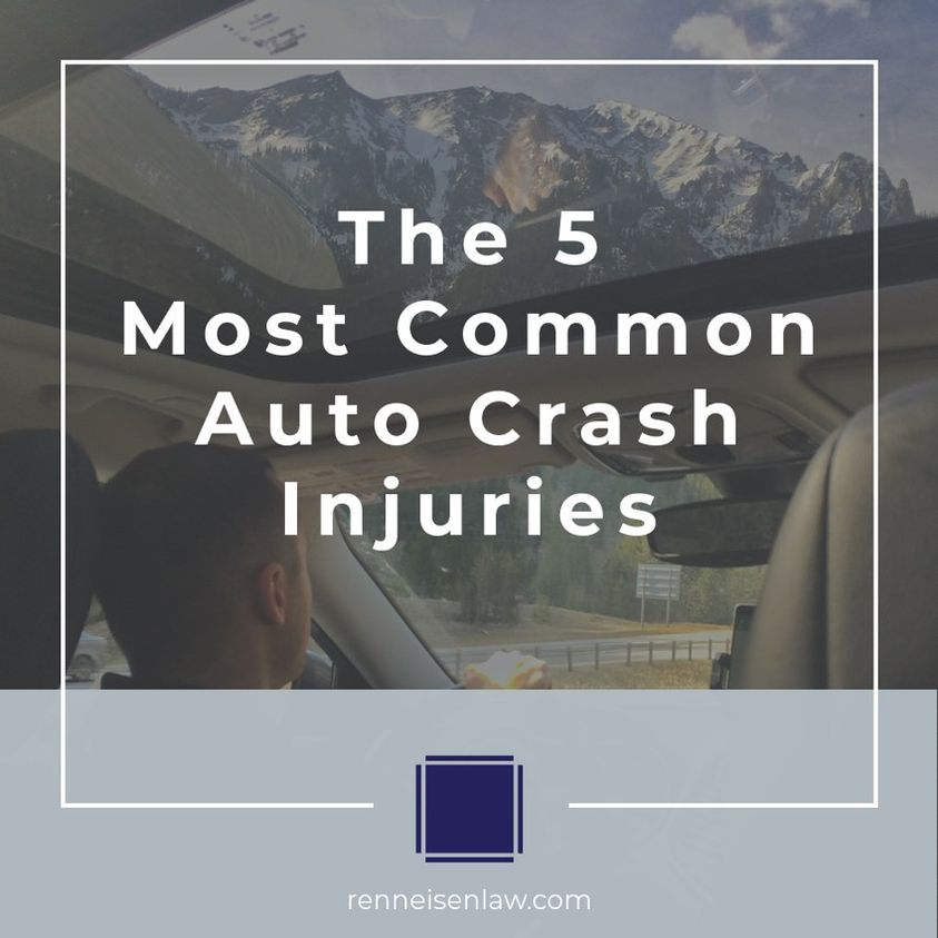 Read more about the article Those 5 most common auto crash injuries