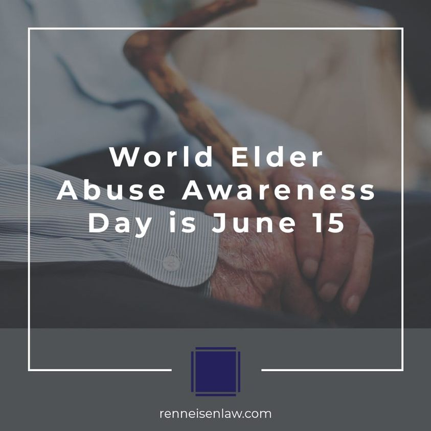 Read more about the article World Elder Abuse Awareness Day is June 15