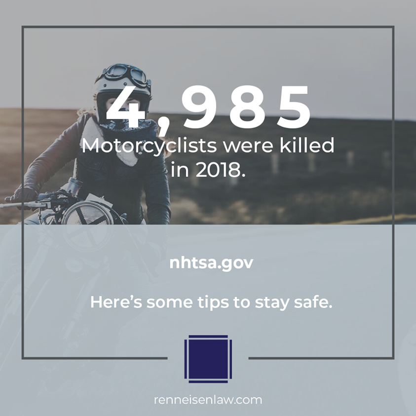 Read more about the article 4,985 Motorcyclists were killed in 2018.