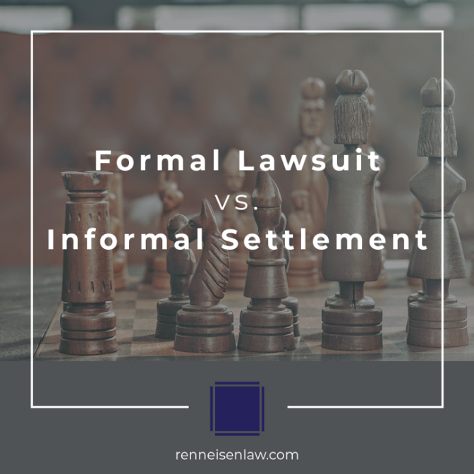 Read more about the article Formal Lawsuit vs. Informal settlement