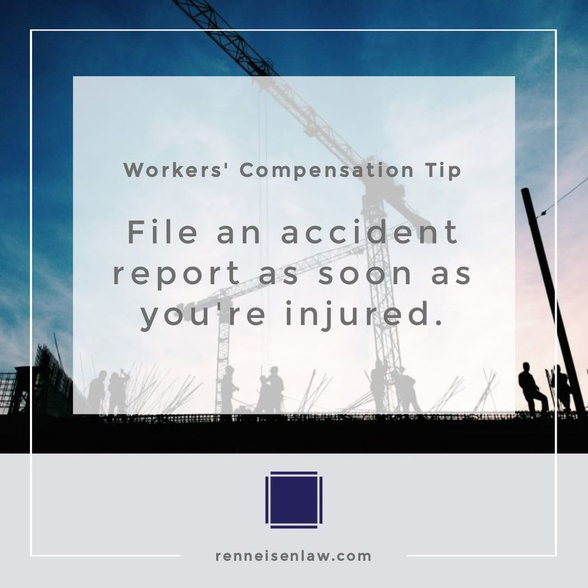 Read more about the article File an accident report as soon as you're injured.