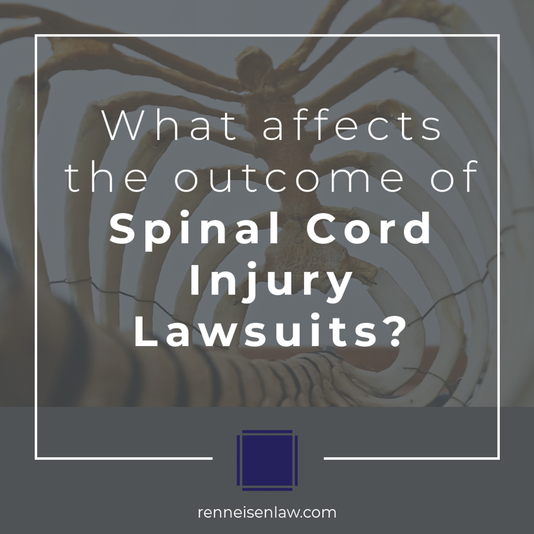 Read more about the article What affects the outcome of Spinal Cord Injury Lawsuits