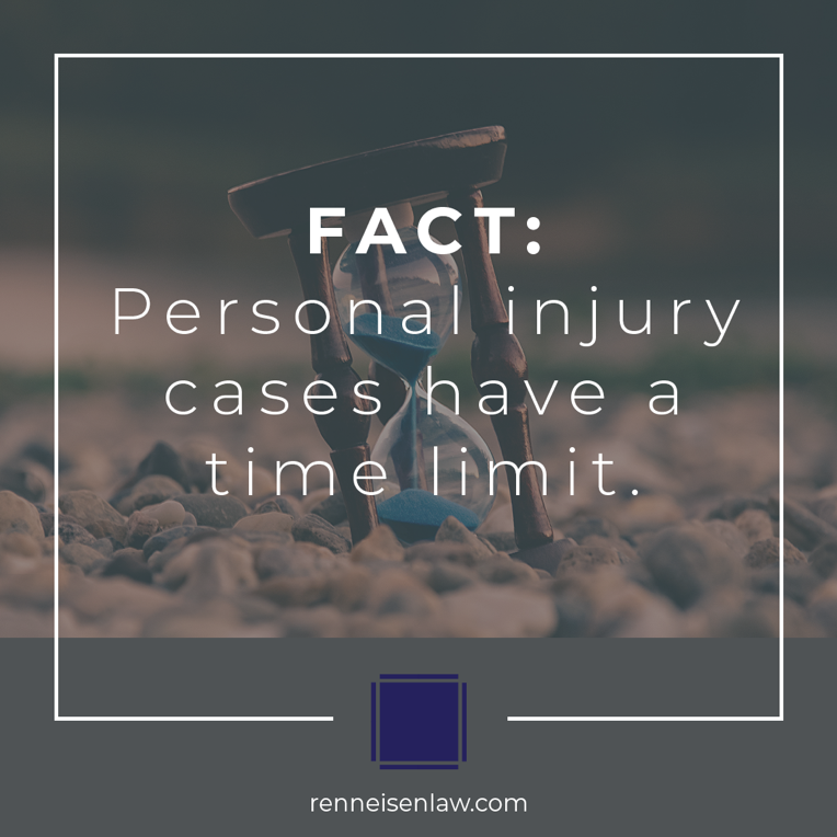 Read more about the article FACT: Personal Injury cases have a time limit.